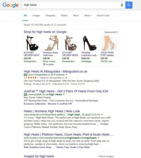 product-vs-brand-listings-in-organic-search-example