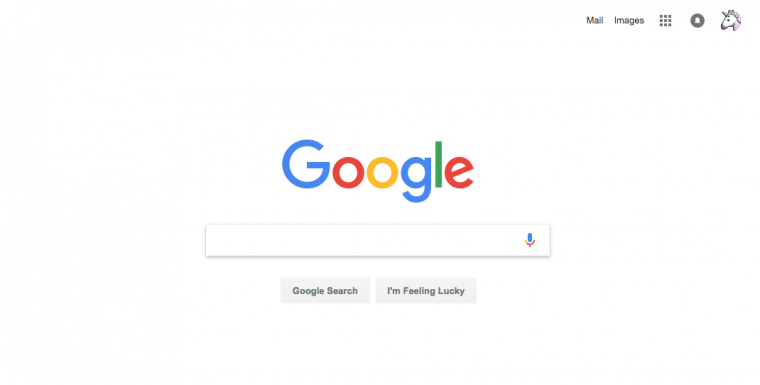 Google's home page search box