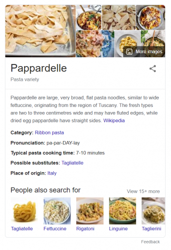 An example of a knowledge panel appearing in Google search results