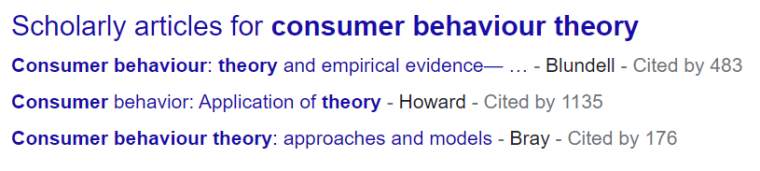 An example of scholarly articles appearing in Google search results
